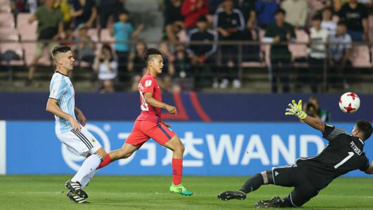 Corea 2-1 Argentina: resumen, goles y resultado