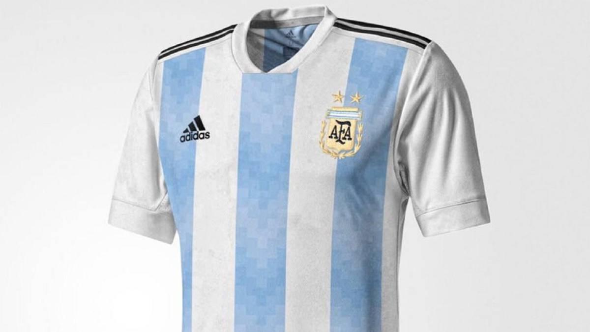 Resultado de imagen de camiseta de argentina rusia 2018