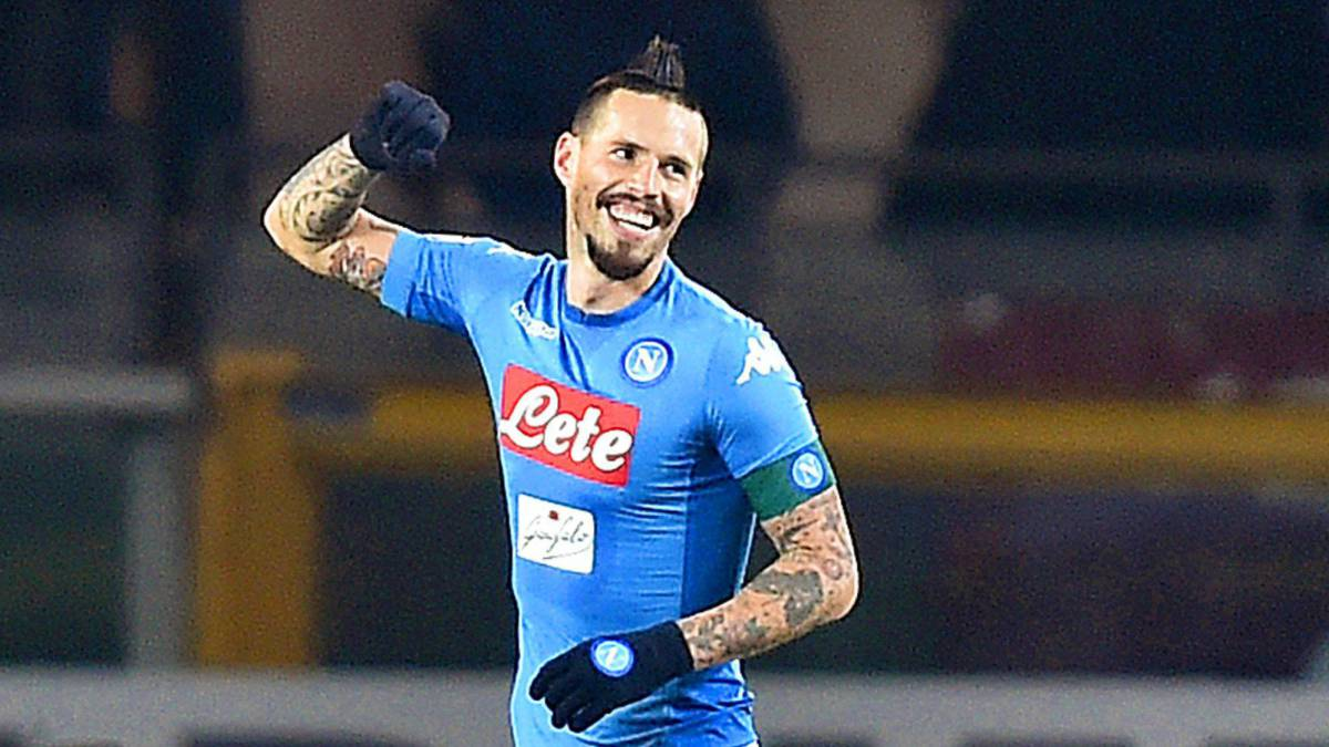 Hamsik alcanzó a Maradona como máximo goleador de Napoli
