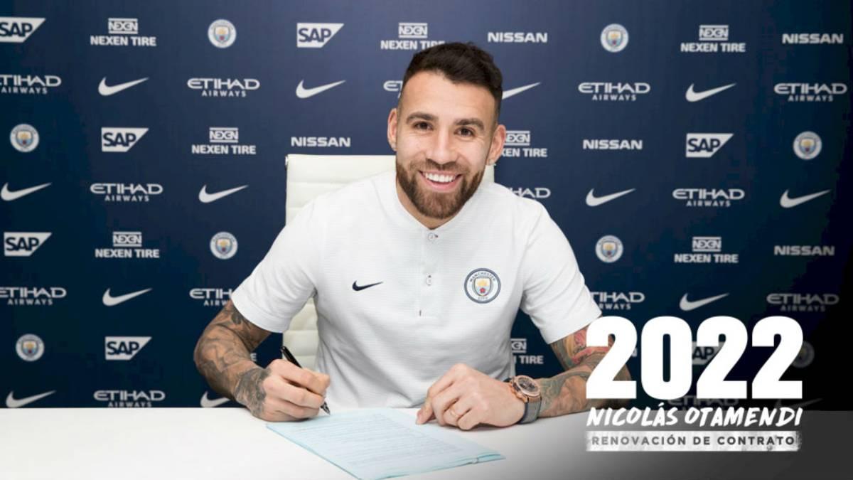 Futbolista argentino Nicolás Otamendi seguirá en el Manchester City