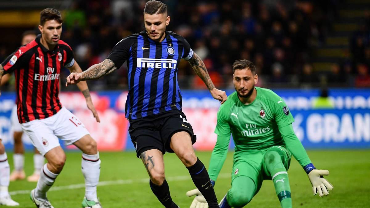 Icardi le da el triunfo al Inter en el Derby della Madonnina