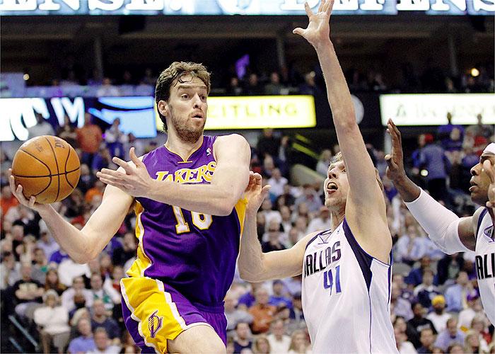 """Pau Gasol tiene un """"75% de opciones"""" de salir de Lakers"""