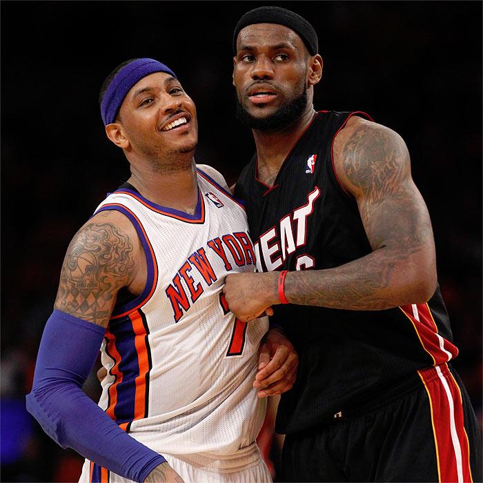 Miami vence en el duelo entre LeBron y Melo Anthony