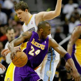Bryant jug en equipo y los Lakers rozan las semifinales