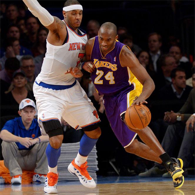 Carmelo Anthony abrumó a Bryant antes de lesionarse