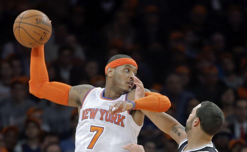 Carmelo Anthony tiene un regreso triunfal con los Knicks