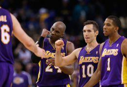 Bryant y Nash salvan a los Lakers; Gasol aporta 9 puntos