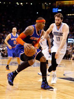 Anthony volvió a llegar a los 40 puntos y salvó a los Knicks