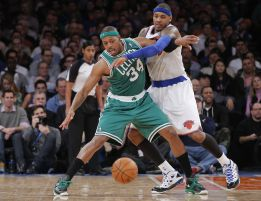 Pierce y los Celtics silenciaron a Anthony y los New York Knicks