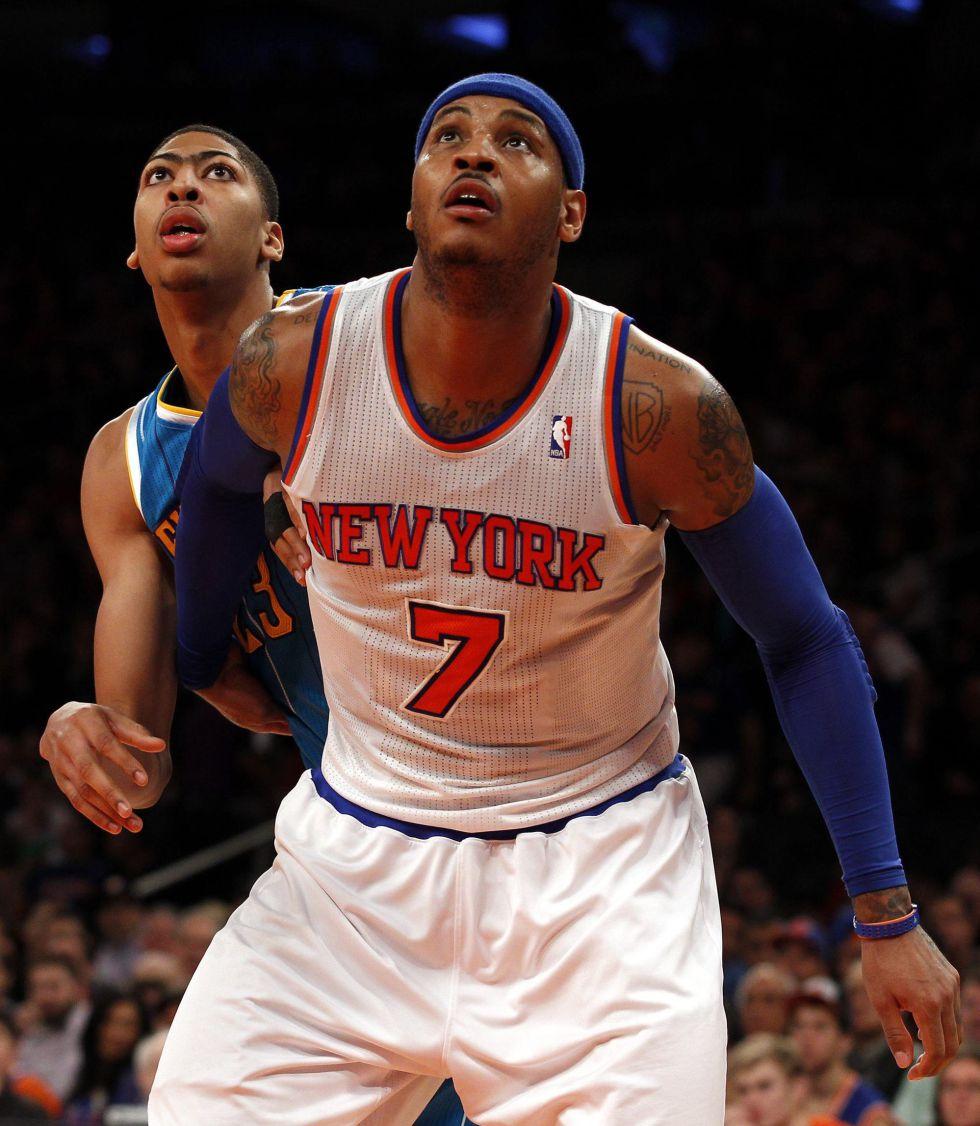 Carmelo Anthony volvió a guiar a los Knicks al triunfo