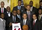 Obama recibe a los Heat de LeBron en la Casa Blanca