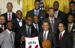 Obama recibe a los Heat de LeBron y Wade en la Casa Blanca