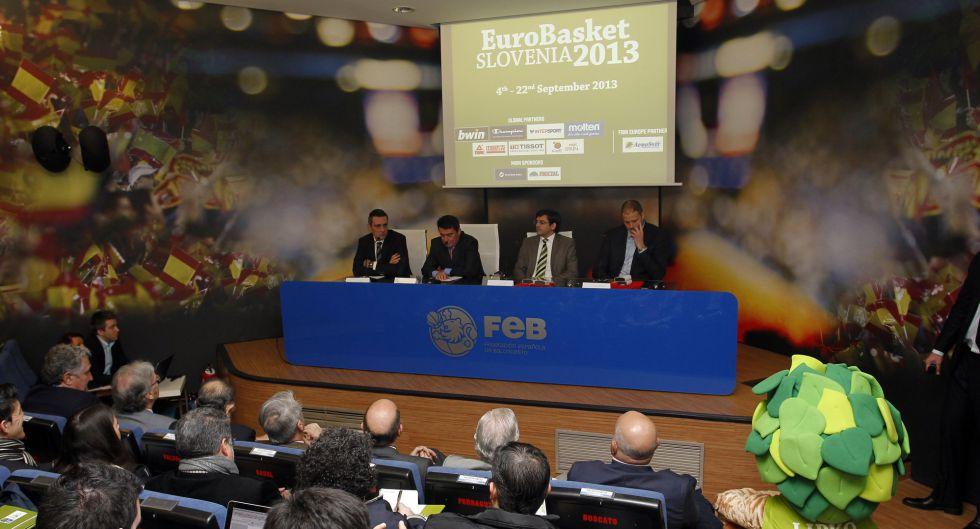 Eslovenia ha presentado en Madrid el Eurobasket 2013