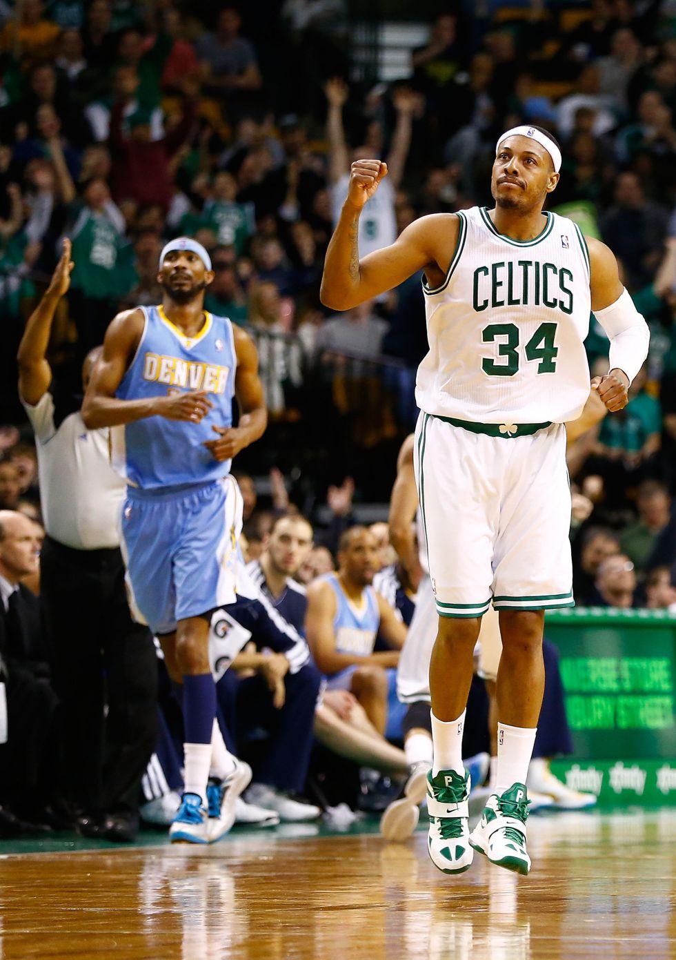 Pierce logra triple-doble y los Celtics amplían su racha triunfal