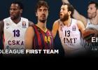 Chacho y Rudy, en el quinteto ideal del año en la Euroliga