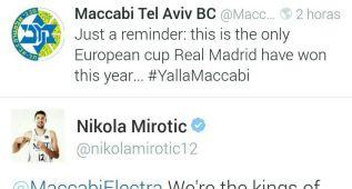 Mirotic replica un 'tuit' del Maccabi sobre la Décima