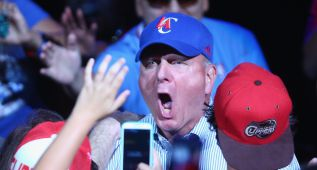 La euforía descontrolada del nuevo dueño de los Clippers