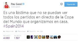 Gasol y Ricky se lamentan por las retransmisiones del Mundial