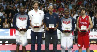 Pau Gasol entra en el quinteto ideal; Kyrie Irving, MVP