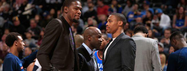Durant y Westbrook podrían regresar la próxima semana