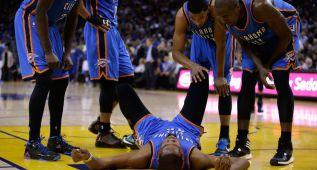 Susto de Durant y Westbrook claudica ante Stephen Curry