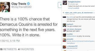 """Cousins se venga del """"estará en la cárcel en menos de 5 años"""""""