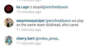 Durant insulta a un seguidor en Instagram y luego lo borra