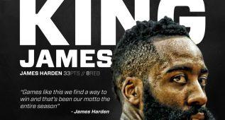 """Houston llama """"King James"""" a Harden... ¿recado a LeBron?"""