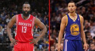 Pique Rockets-Warriors por el MVP: ¿Harden o Curry?