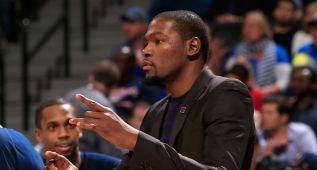 Oficial: Kevin Durant se pierde lo que queda de temporada