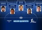 El MVP San Emeterio lidera el quinteto de la jornada