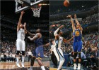 Brook Lopez y Stephen Curry, jugadores de la semana
