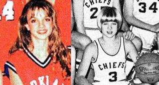 Britney Spears y Brad Pitt también jugaron al baloncesto