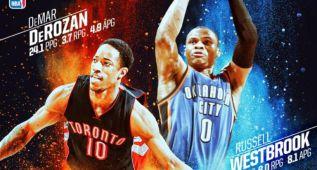 Últimos premios del mes para Westbrook y DeRozan