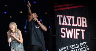Kobe sorprende a Taylor Swift con su bandera en el Staple