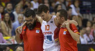 Pau Ribas y Claver se retiraron lesionados ante Macedonia