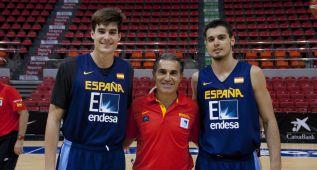 Juancho y Abalde ya se entrenan con la Selección española