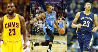LeBron, Durant y Anthony Davis son los mejores de la NBA