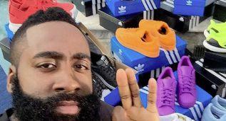 El regalo de Adidas a Harden: ¡un camión lleno de 'zapas'!