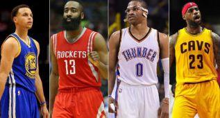¿Quién será el MVP 2016? LeBron, Curry, Davis, Harden...