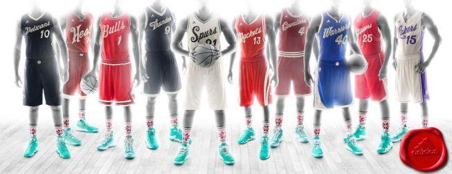 La NBA presenta los uniformes que se usarán en Navidad