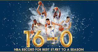 Warriors de leyenda: primer 16-0 en toda la historia de la NBA