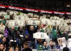 La afición del Unicaja silbó el himno de la Euroliga
