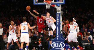 La defensa de Miami Heat hunde a unos Knicks que van a menos
