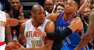 El bloque de los Hawks supera a Durant y un heroico Westbrook