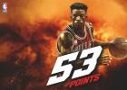 Butler vuelve a ser Jordan: ¡53pts!, 10 rebotes