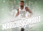 Marcus Smart, primer 'triple-doble' de su carrera: 10-11-11