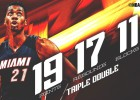 Whiteside lo vuelve a hacer: ¡triple-doble con 11 tapones!