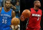 Durant (Oeste) y Wade (Este), jugadores de la semana