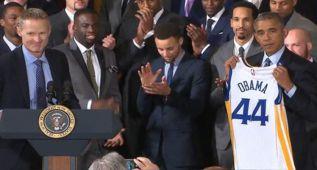 Curry y los Warriors visitan la Casa Blanca como campeones de la NBA